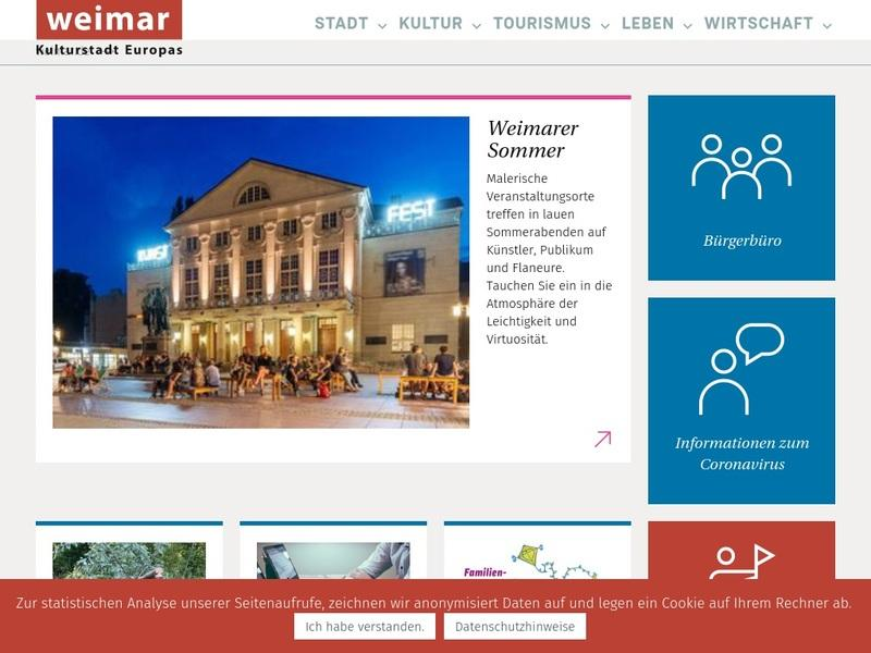 Screenshot von www.weimar.de
